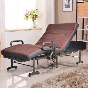 未蓝生活折叠床电动遥控升降单人床办公室午休午睡陪护沙发床日式