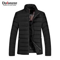 Dofonzee 男士冬季新款羽绒服保暖加厚白鸭绒立领纯色外套潮