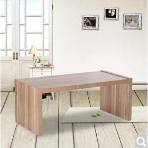 未蓝生活板木茶几简约现代沙发几客厅小户型厂方几胡桃色 胡桃色041A