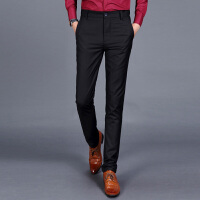 男士商务加绒休闲裤高弹力修身型小脚免烫西裤男裤秋款韩版长裤子