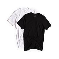Calvin Klein 男士内衣 美国CK经典圆领/V领宽松打底衫男T恤 单件装