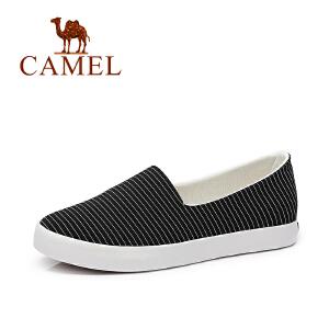 Camel/骆驼女鞋 2017春夏新款 舒适透气帆布鞋 时尚百搭小白鞋