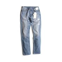 Calvin Klein卡尔文克雷恩男士经典牛仔裤纯棉浅蓝CK拉链特软牛仔长裤41VA841