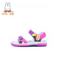 【两件6折 三件5折】Miffy米菲2017新款夏季童鞋儿童凉鞋男童男孩中大童小孩沙滩鞋子