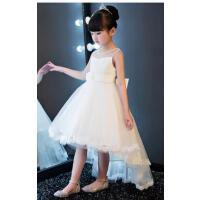 儿童礼服公主裙蓬蓬裙钢琴演出服夏季女童拖尾裙花童礼服女婚纱裙