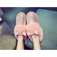 新款可爱小耳朵学生棉鞋雪地靴保暖皮毛一体厚底棉鞋