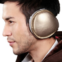 保暖耳套男冬季耳罩保暖护耳包折叠毛绒皮质耳捂耳暖
