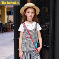 巴拉巴拉童装儿童打底衫 女半袖2017夏装新款中大童 女童T恤短袖