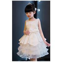 儿童礼服公主裙 婚纱蓬蓬裙女童主持演出服花童裙夏季