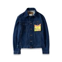 Wrangler/威格牛仔衣原色常规短款时尚都市牛仔衣男女中性潮流长袖