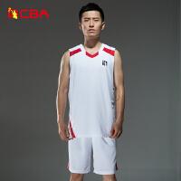 【618狂嗨继续】CBA正品男子篮球服透气篮球套装专业球服训练服可印号定制比赛服