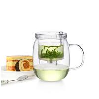 尚明茶道杯玻璃茶具高硼硅耐热玻璃杯 飘逸杯过滤泡茶器个人花茶杯大容量玲珑杯 S023