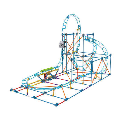 过山车轨道玩具 百变轨道积木