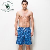 圣大保罗 男士沙滩裤 运动休闲 炫彩泳裤 内裤 平角 短裤