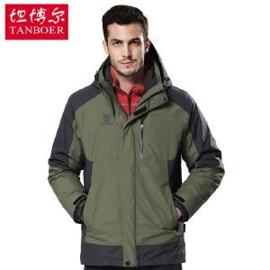 坦博尔 秋冬新款 户外羽绒服男常规短款加厚大码休闲户外羽绒服TA7355