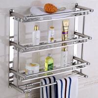 御目 置物架 卫生间厨房吸盘式毛巾架不锈钢免打孔单杆双杆浴室洗手间置物架壁挂 创意家具