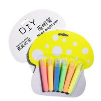 韩版创意文具 爆米花笔泡泡笔6色 夜光DIY涂鸦笔 金属绘画笔 学生用品