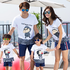 【当当年中庆】夏装2017新款潮春装 亲子装一家三口母子全家装套装