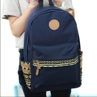 日韩版双肩包男女简约休闲中学生书包帆布潮男学院风旅行电脑背包