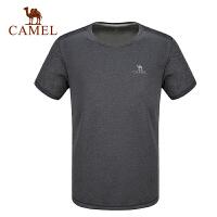 camel骆驼男女运动T恤 春夏透气时尚圆领短袖瑜伽健身T恤