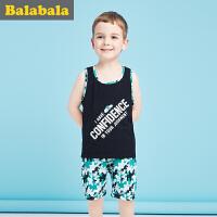 巴拉巴拉儿童短袖套装男童宝宝2017夏季新款短袖幼童男童两件套