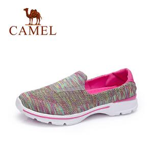 Camel/骆驼女鞋 2017春夏新款 轻便透气飞织布单鞋 舒适防滑百搭休闲鞋
