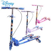 迪士尼儿童滑板车米奇三轮四轮踏板车蛙式剪刀车
