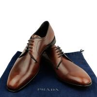 prada男士棕色系带皮鞋2EC060