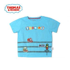 [满200减100]托马斯童装正版授权男童夏装圆领童趣卡通印花纯棉T恤