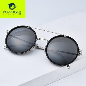 海豚2017新品偏光太阳镜女圆框复古潮流墨镜高端板材个性眼镜
