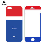 benks 苹果5s钢化玻璃膜 iphone5s钢化膜 iphone5s彩膜5s前后贴膜