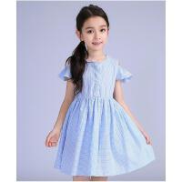新款童装中大童儿童裙子韩版纯棉女童连衣裙夏小女孩公主裙子可礼品卡支付