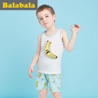 【6.26巴拉巴拉超级品牌日】巴拉巴拉儿童短袖套装男小童宝宝2017夏季新款短袖幼童男童背心两件套