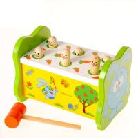 儿童敲打台桌面游戏男女宝宝木制敲击玩具1-3岁打地鼠