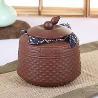 思故轩普洱醒茶罐储存包装盒 手工大号红茶密封罐特价 宜兴紫砂茶叶罐