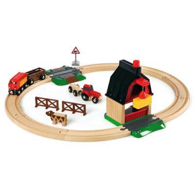 [当当自营]BRIO 农场豪华级轨道套装 儿童益智拼插木制轨道小火车玩具 BR33719【当当自营】BRIO的游乐世界 百年瑞典品牌 木质小火车的领军产品