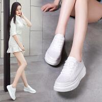 专柜同款【真皮 镂空】雕花中跟单鞋女韩版学生清凉休闲运动鞋B59