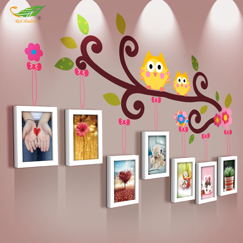 御目 照片墙 客厅卧室幼儿园墙面装饰品挂件田园风卡通相框挂饰儿童