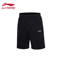 李宁卫裤2017新款男士夏季短裤针织运动裤AKSM119
