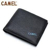 Camel/骆驼钱包软皮横款男士休闲钱夹短款男皮夹薄款青年卡包