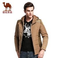 骆驼&熊猫联名系列男装 冬季保暖棉衣男士休闲棉服连帽加厚外套男