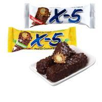 【当当自营】韩国进口 三进X-5原味/香蕉味 花生牛奶夹心巧克力棒 144g(36g*4支)/盒*3盒