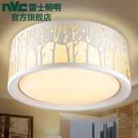 NVC 雷士照明 LED吸顶灯 双色调光卧室书房餐厅圆形灯具 24W