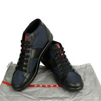 PRADA蓝色拼黑色男鞋