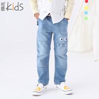 初语童装 冬季新品 可爱纯色宽松长裤男童裤子 T5318150051