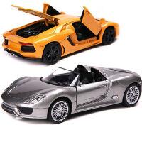 美致汽车模型 合金仿真跑车 收藏礼物声光回力儿童玩具车保时捷模型