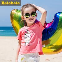 巴拉巴拉儿童短袖T恤女小童宝宝衣服2017夏装童装女童打底衫