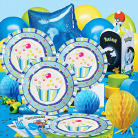 孩派 聚会用品 儿童生日派对用品 生日聚会 男孩蓝蛋糕主题系列