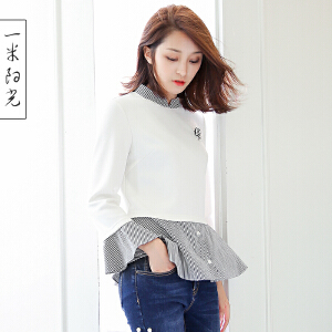 一米阳光2016新款韩版显瘦衣服宽松百搭白色上衣