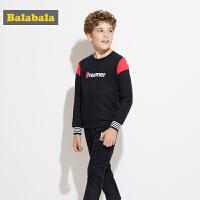 巴拉巴拉童装男童套装儿童两件套中大童秋装2017新款长袖卫衣裤子